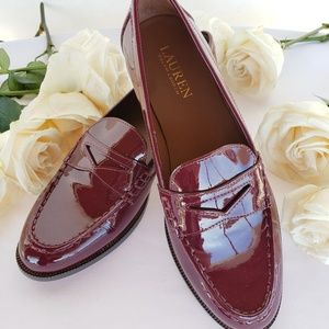 *NEW* Ralph Lauren Patent Penny Loafers
